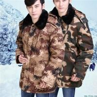 冬季迷彩棉袄中老年人加厚保暖棉衣外套男士工作劳保迷彩上衣