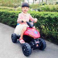 儿童电动车四轮越野宝宝玩具车双驱可坐沙滩摩托车小孩大马力童车