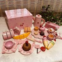 儿童新年生日礼物女孩仿音乐蛋糕木质切切乐宝宝过家家幼儿玩具 小熊木盒
