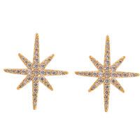 八芒星耳钉银法式感耳饰 日韩气质时尚 网红无耳洞耳夹耳环女