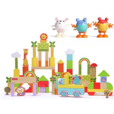 费雪(Fisher Price) 木制早教启蒙积木玩具1-2-3-6周岁男女孩儿童宝宝1-2周岁