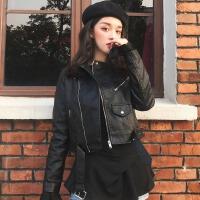 pu皮夹克上衣2019春季新款韩版帅气女生机车服气质修身高腰短外套