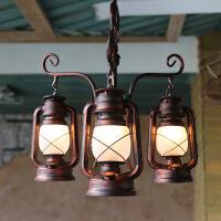 美式乡村主题餐厅灯吊灯 创意咖啡屋茶楼酒吧会所设计师吊灯 复古个性马灯吊灯具