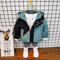 男童秋冬外套秋装男孩加绒风衣儿童宝宝上衣