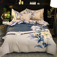 新品家纺磨毛四件套加厚2.0m米床单被套冬季床上用品定制 栗色 唯爱