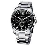 2018年新款 EYKI艾奇 多功能六针石英商务钢带手表 黑色 8568