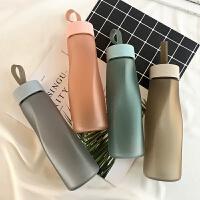 韩版简约水杯便携耐摔随手杯创意小清新塑料个性杯子透明带盖