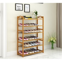 鞋架简易经济型组装家用多层实木鞋柜宿舍家里人多功能省空间 原色