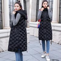 棉马甲女冬装2018新款女装韩版马夹中长款冬季背心外套潮羽绒
