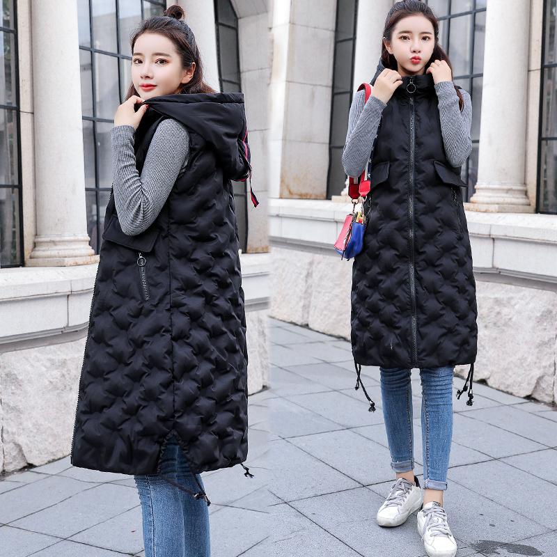 棉马甲女冬装2018新款女装韩版马夹中长款冬季背心外套潮羽绒   喜爱自己    衣衣装束