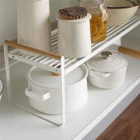 厨房分层置物架台面桌面调料收纳橱柜内隔层分隔板盘子双层锅架子
