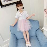 儿童唐装连衣裙女童汉服襦裙雪纺夏装小女孩复古装童装