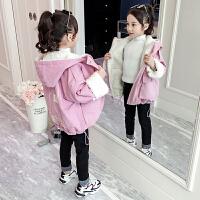 2019秋冬季新款儿童中大童女孩中长款加厚加绒外套