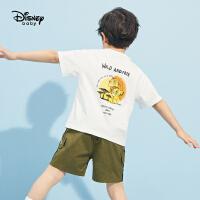 【3折券后价:33.3元】迪士尼男童短袖T恤2021夏季新款洋气打底衫儿童宝宝卡通针织上衣