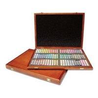 韩国进口MUNGYO盟友 72色套装木盒装 色粉笔 粉彩棒 粉彩笔