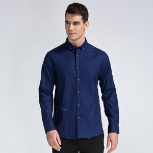 【包邮】才子男装(TRIES)长袖衬衫 男士纯色多色时尚休闲衬衫