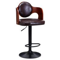 【新品热卖】实木吧台椅酒吧椅子升降吧凳前台桌椅美式复古高脚凳子