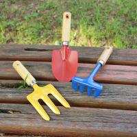 耙子玩具 小铲子铁铲耙子 盆栽种菜 园林园艺工具三件套 儿童玩具套装