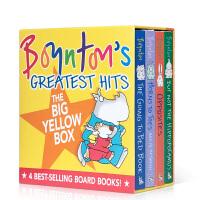 Boynton's Greatest Hits#2 桑德拉・柏因顿 4本 纸板书盒装The Going to Bed Book到床上看书 Horns To Toes Opposites儿童英文原版绘本