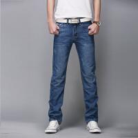 新款牛仔裤男青年大码直筒纯棉休闲长裤子
