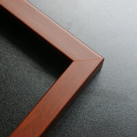 ��木大相框定制�L正方形婚�影�墙Y婚十字�C字���b裱��框 定做 ���2cm 厚度3cm