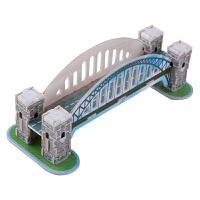 儿童3D立体拼图亲子玩具木质拼插汽车模型积木制小屋建筑儿童diy益智玩具