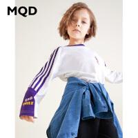 MQD童装男童长袖T恤2019秋季新款上衣韩版打底衫儿童运动体恤洋气