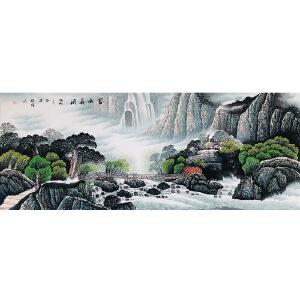 广西美协会员 李德强(富水长流)ZH209