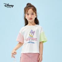【3折券后价:33.3元】迪士尼童装女童短袖T恤2021新款夏季儿童上衣宝宝衣服打底衫洋气