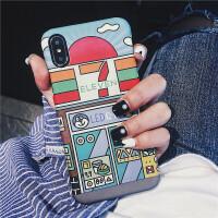插画苹果x手机壳iPhone8/7plus创意6/6s磨砂壳情人节礼物 ⑥/⑥s 半包硬壳 Justin同款