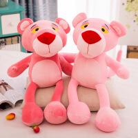 网红软体羽绒粉红色顽皮豹公仔玩偶跳跳虎毛绒玩具娃娃女生礼物