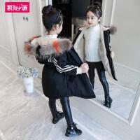 女童棉衣冬装2018新款棉服外套厚儿童韩版女孩洋气时髦中长棉袄潮