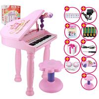 儿童电子琴女孩钢琴麦克风宝宝益智启蒙玩具 宝宝音乐琴身日礼物