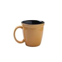 【新品热卖】复古韩式木柄马克杯日式文艺创意个性磨砂粗陶马克杯子简约咖啡杯