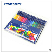 STAEDTLER 施德楼326WP20 20色安全环保水彩笔 鲜艳可水洗
