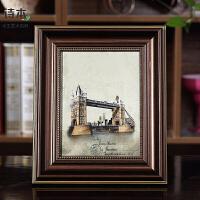 新品欧式相框摆台画框3寸5寸6寸7寸8寸10寸12寸组合照片墙装饰 咖啡色 003咖啡色