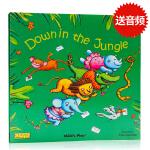 点读版 Down in the Jungle 洞洞书 韵文童谣 英文原版绘本 平装 Child's Play 廖彩杏书