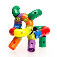 积木塑料拼插儿童玩具男孩女孩3-6周岁幼儿园旋转拼装水管道