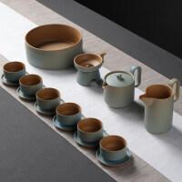 【新品】陶瓷功夫茶具套装粗陶生财有道家用新中式禅意简茶壶整套
