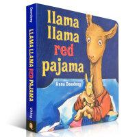 顺丰发货 Llama Llama Red Pajama 穿红睡衣的驼拉玛 Anna Dewdney 幼儿启蒙认知英文原版绘本 是一本适合晚上孩子睡觉之前,妈妈和孩子一起阅读的绘本 纸板书 送音频