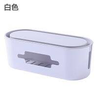 桌面插座电线收纳盒家用插线板固定集线盒大号插座整理盒