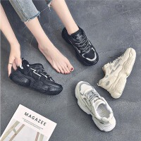 老爹鞋女秋季韩版百搭学生ins网红厚底增高小白运动板鞋