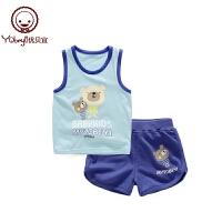 男女童夏季衣服儿童背心短裤两件套薄款宝宝夏装婴儿套装