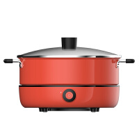 九阳(Joyoung)电磁炉锅家用多功能电热电火锅分离式大容量煮锅HG5红色