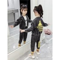 2019春秋季新款儿童洋气时髦童装女孩牛仔两件套女童秋装套装
