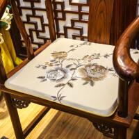 中式坐垫红木家具新中式实木椅子坐垫太师椅餐椅圈椅垫厚薄款定做