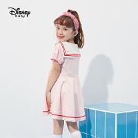 【2件3折:77.7元】迪士尼童装女童甜美连衣裙洋气公主裙2021夏季新款儿童裙子女宝宝