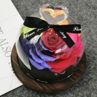 永生花玻璃罩礼盒玫瑰花车载摆件礼品情人节生日礼物送女朋友