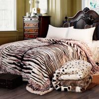 拉舍毛毯被子双层加厚冬季双人毯子 单人学生宿舍盖毯珊瑚绒毯定制