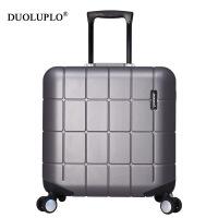 【年货节大促】多伦保罗铝框旅行箱18寸拉杆箱小型迷你登机箱16行李箱包男女箱子